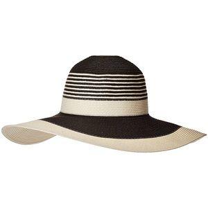 Calvin Klein Striped Colorblock Floppy Sun Hat